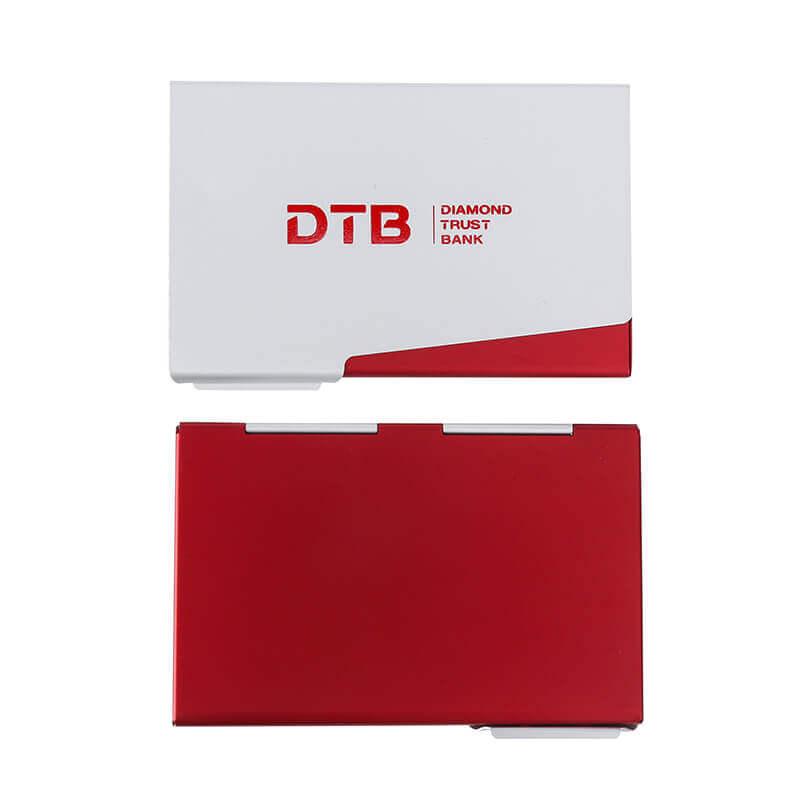 aluminium alloy ultra thin business name card holder case